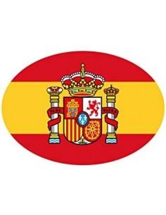 Pegatina España Ovalada - Pequeña 8 cm