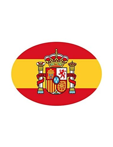 Spanish Flag Oval Sticker