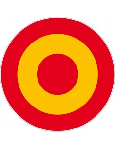 Spain Rosette Sticker 7 cm