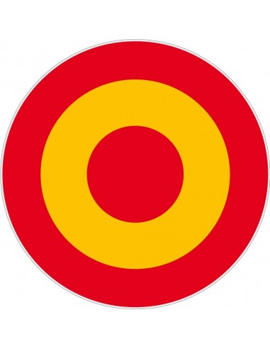 Spain Rosette Sticker 7 cm
