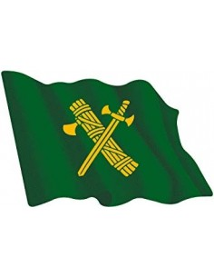 Civil Guard Flag Sticker Waving