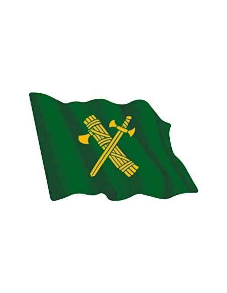 Pegatina Bandera Guardia Civil Ondeante