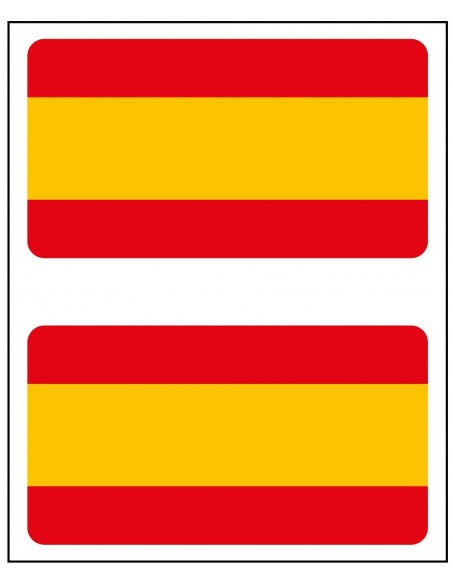 Sticker Flag Spain Tv x2
