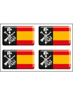 Pack Stickers x2 Spain Flag without Shield - x2 Legion Shield