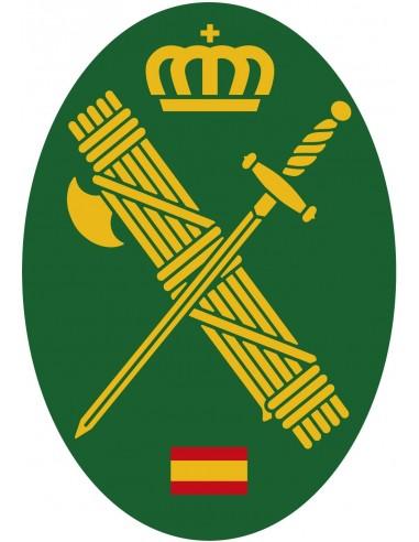 Pegatina Guardia Civil Pequeña Ovalada