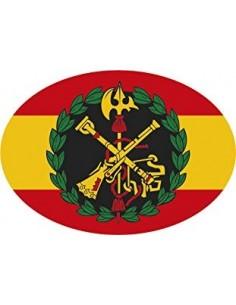 Pegatina Legión Española Bandera España