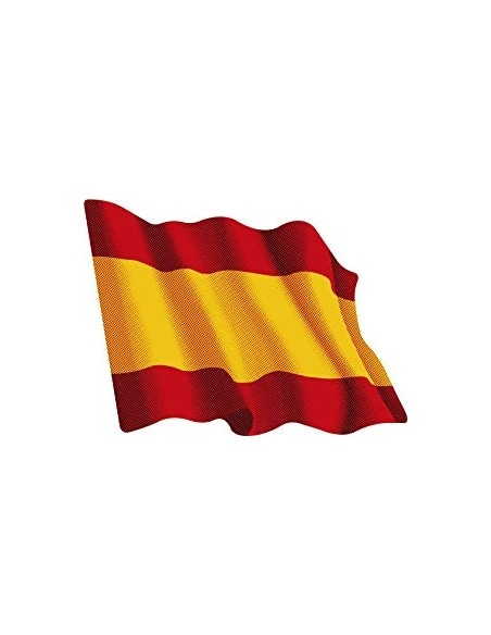 Waving spanish flag sticker medium size