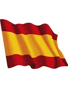 Sticker Spanish flag fluttering
