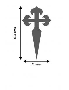 Santiago Cross Sticker
