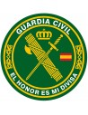 Pegatina Redonda Guardia Civil Mediana