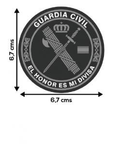 Pegatina Redonda Guardia Civil Mediana