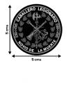 Pegatina Redonda de la Legión Española con el Laurel