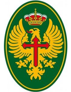 Pegatina Ejército de Tierra Ovalada con Volumen