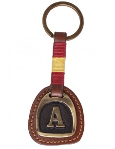 Spanish Flag Key Ring with Initials