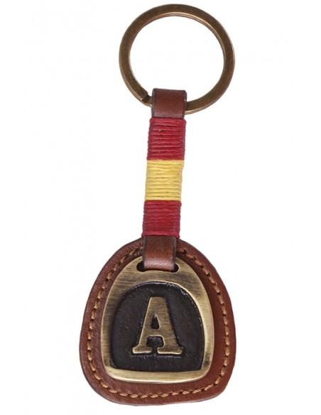 Initial Spain Flag Keychain