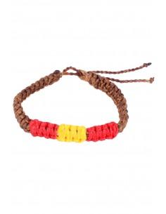 Waxed Bracelet brown Flag Spain