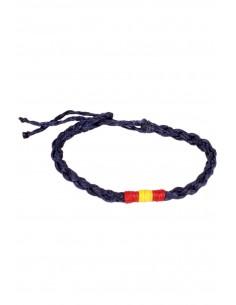 Waxed Bracelet blue Flag Spain