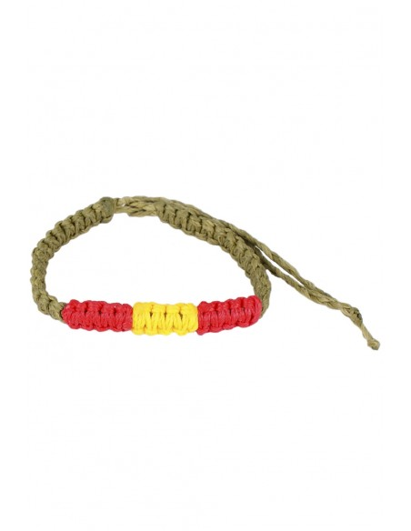 Waxed Bracelet green Flag Spain