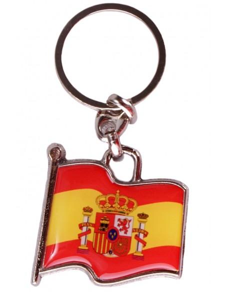 Key Chain Spain Flag with Shield