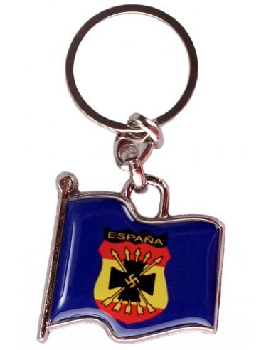 Spanish Blue Division Flag Key Ring