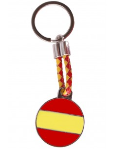 Spanish Flag Rounded Key Ring