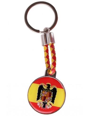Eagle Spanish Flag Rounded Key Ring