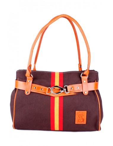Spanish Flag Handbag -brown