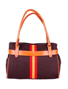Spanish Flag Handbag -brown
