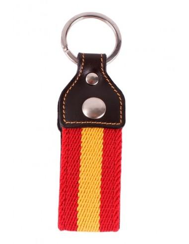 Llavero Loneta y Cuero Bandera España