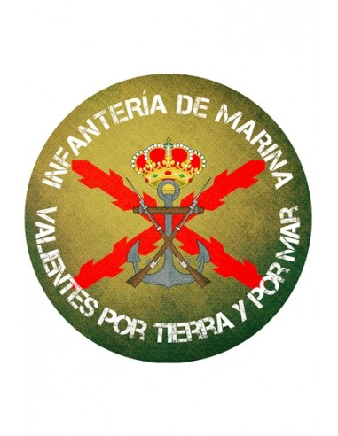 """Marine Infantry Mouse Pad """"Brave for Land and Sea"""""""