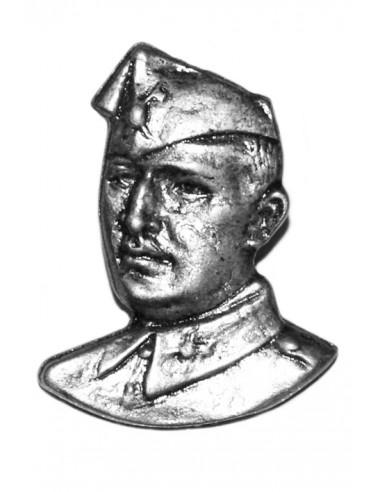 Pin Busto Franco en Plateado