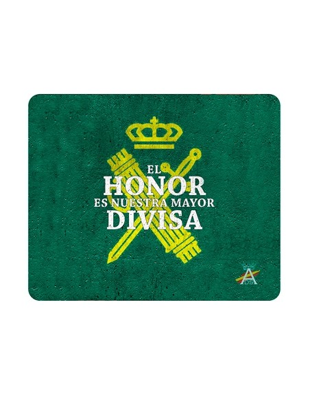 Mouse pad with the Civil Guard shield and the motto Honor is Our Greatest Badge.
