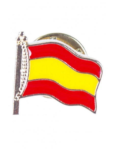Pin Flag Spain with Mast