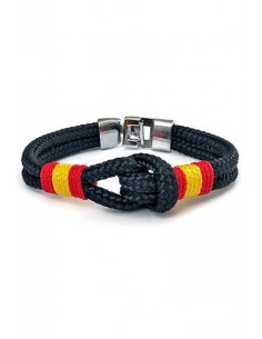 Blue Marinera Bracelet with Knot and Flag of Spain