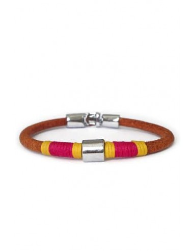 Leather Leather Bracelet with Capote Color Thread