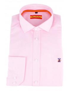 Camisa de Vestir Rosa Bandera España