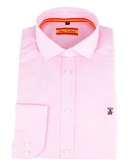 Dress Shirt Pink Flag Spain