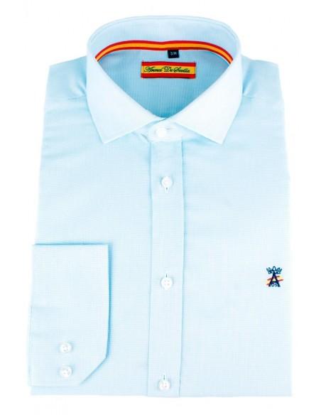 Camisa de Vestir Celeste Bandera España