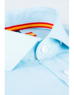 Dress Shirt light blue Flag Spain