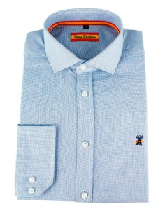Dress Shirt blue Flag Spain