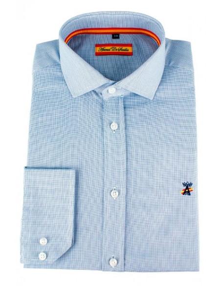 Camisa de Vestir Azul Bandera España