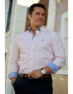 Camisa Hombre Oxford Rosa Bandera