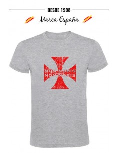 "T-shirt with the Templar Cross, ""Non Nobis Domine"""