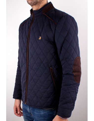 Navy Knight Parka with Elbow Patches