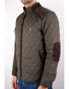Green Knight Parka with Elbow Patches