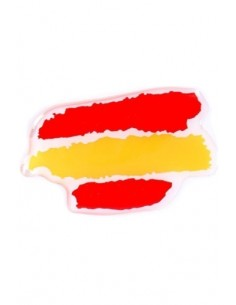 Sticker Relief Spots Spain Flag