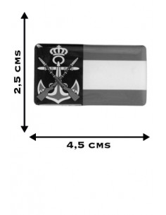 Pegatina Armada y Bandera España Relieve
