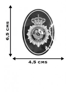 Spanish National Police Oval Sticker