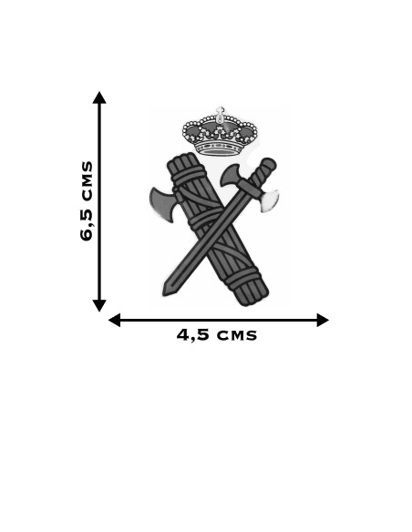 Pegatina Silueta Escudo Guardia Civil