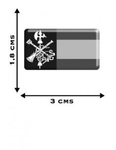 Pack Pegatinas x2 Bandera España sin Escudo - x2 Esucdo Legión